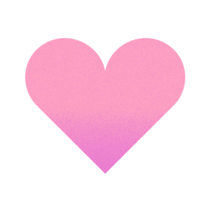 Large pink love heart